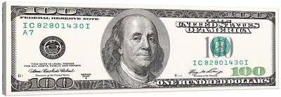 One Hundred Dollar Bill Canvas Art Print