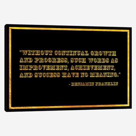 Ben Franklin Quote Canvas Print #ICA2214} by 5by5collective Canvas Print
