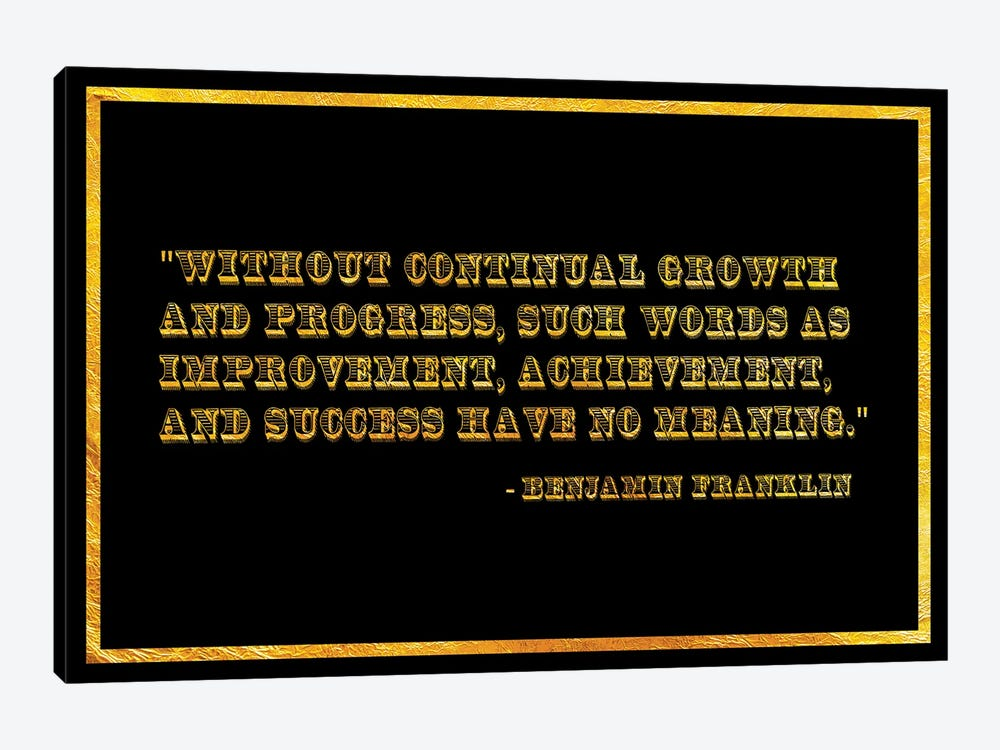 Ben Franklin Quote by 5by5collective 1-piece Canvas Art Print