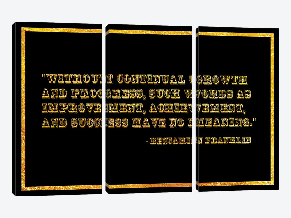 Ben Franklin Quote by 5by5collective 3-piece Canvas Print