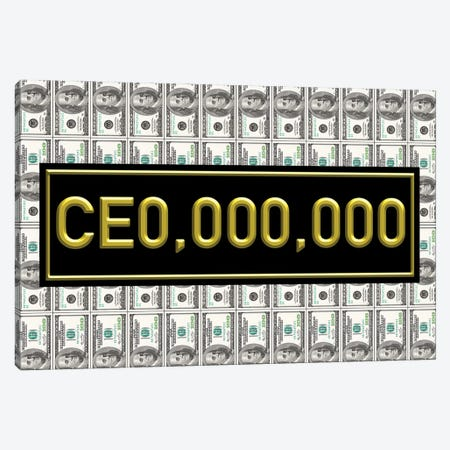 CEO - Gold Canvas Print #ICA2215} by 5by5collective Canvas Print