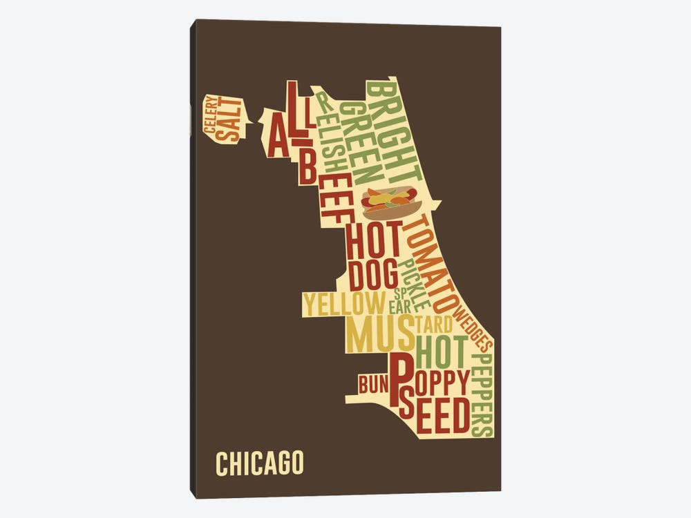 Chicago Style by iCanvas 1-piece Canvas Artwork