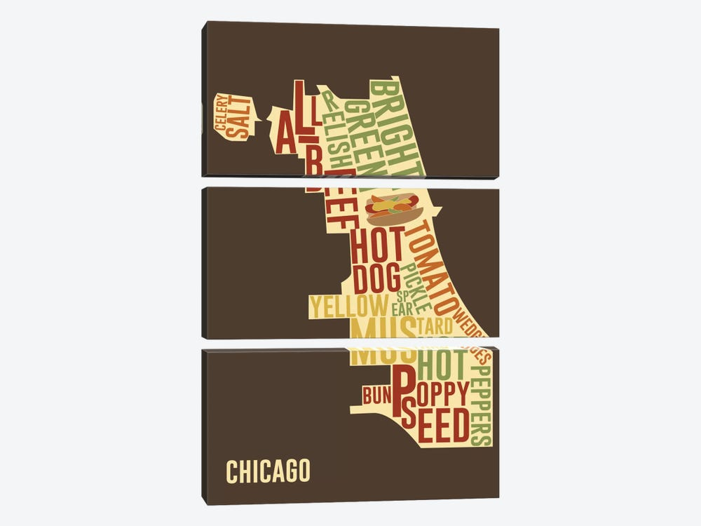 Chicago Style by iCanvas 3-piece Canvas Artwork