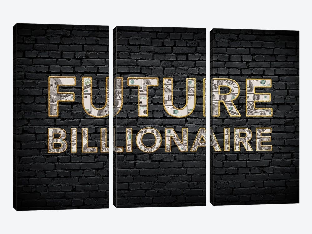 Future Billionaire by 5by5collective 3-piece Canvas Artwork