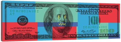 Hundred Dollar Bill - Color Block I Canvas Art Print