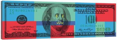 Hundred Dollar Bill - Color Block I Canvas Art Print