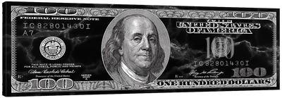 Hundred Dollar Bill - Marble Canvas Art Print
