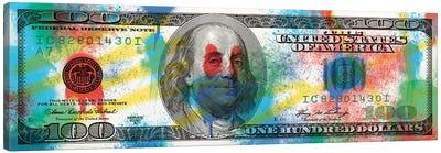 Hundred Dollar Bill - Spray Paint Canvas Art Print