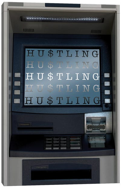 Hustle ATM Canvas Art Print