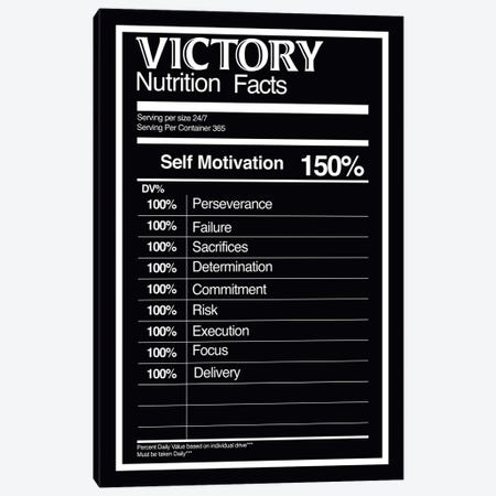 Nutrition Faces Victory - BW Canvas Print #ICA2228} by 5by5collective Canvas Art Print