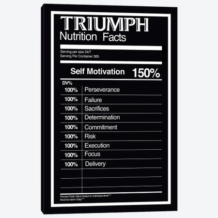 Nutrition Facts Triumph - BW Canvas Print #ICA2232} by 5by5collective Canvas Artwork