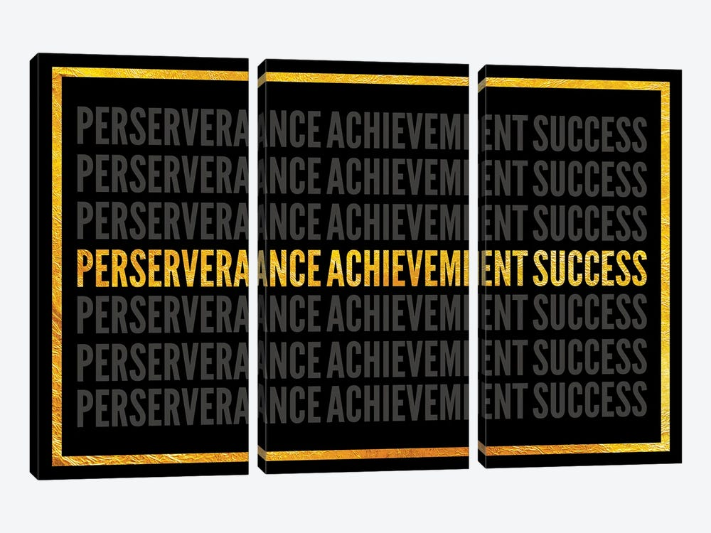 Perserverance - Achievement - Success I by 5by5collective 3-piece Canvas Art Print