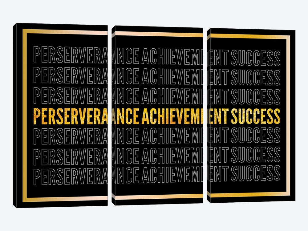 Perserverance - Achievement - Success II by 5by5collective 3-piece Canvas Artwork