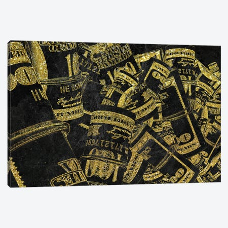 Rolled Up Bills - Gold Canvas Print #ICA2236} by 5by5collective Canvas Art Print