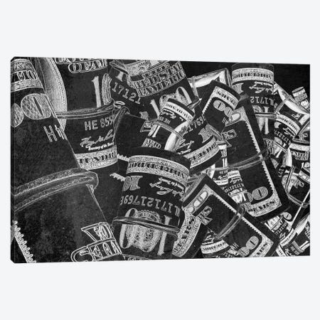 Rolled Up Bills - Silver Canvas Print #ICA2237} by 5by5collective Canvas Print