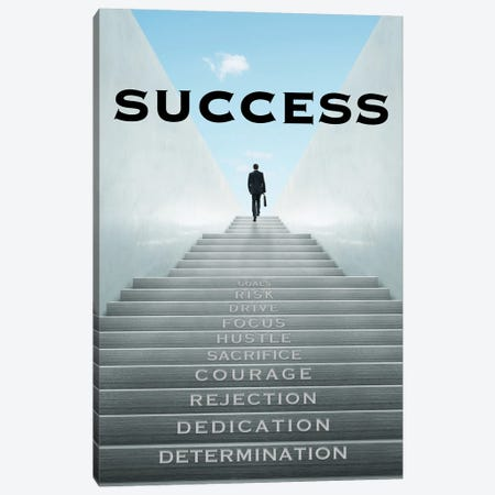 Staircase to Success Canvas Print #ICA2238} by 5by5collective Canvas Art