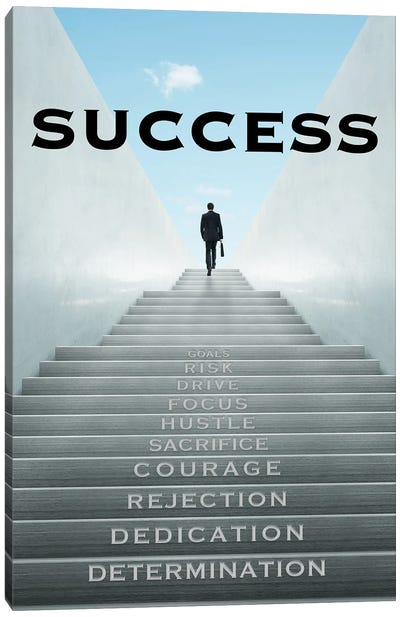 Staircase to Success Canvas Art Print
