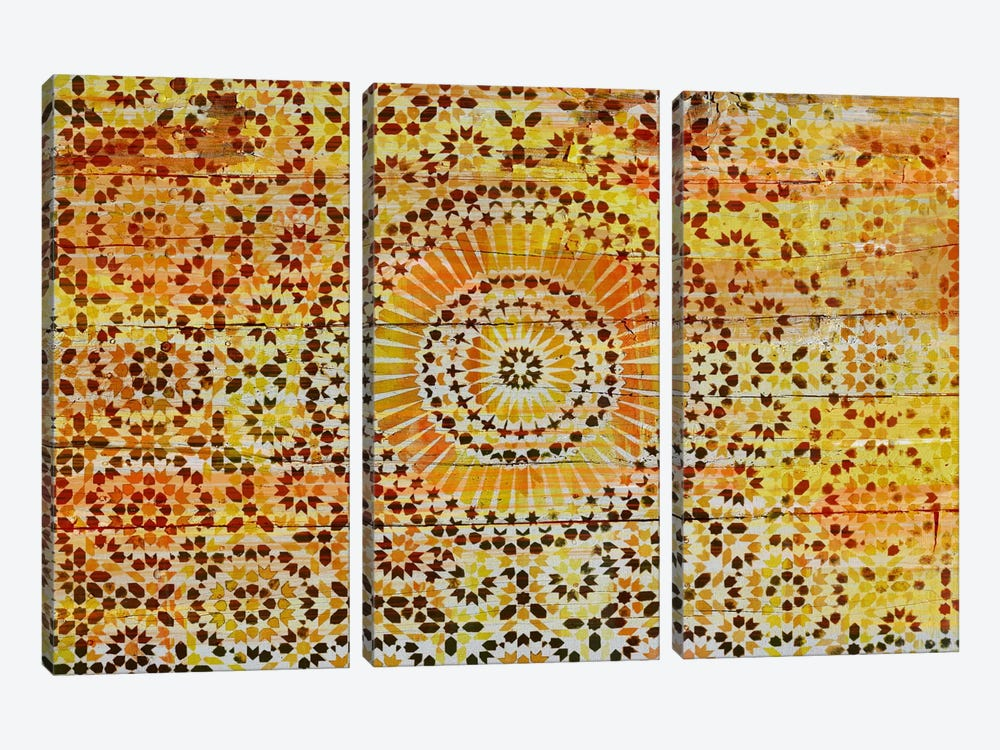 Indian Wood Pattern 2 by Unknown Artist 3-piece Canvas Wall Art