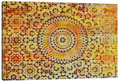 Indian Wood Pattern 2 Canvas Art Print