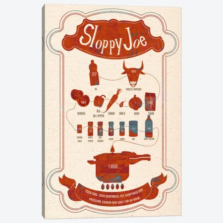 Sloppy Joe Recipe Canvas Print #ICA228} by Unknown Artist Canvas Art