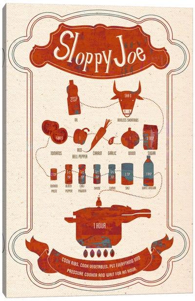 Sloppy Joe Recipe Canvas Art Print