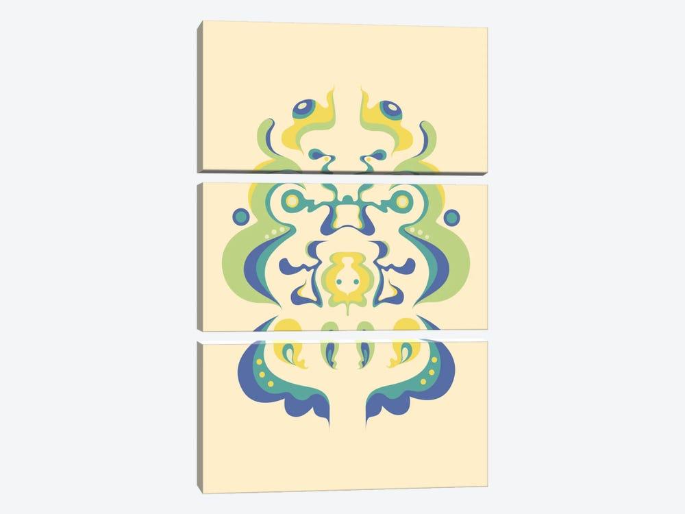 Color Rorschach 2 by Unknown Artist 3-piece Canvas Art Print