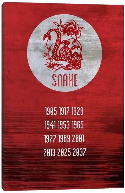Snake Zodiac Canvas Print #ICA234