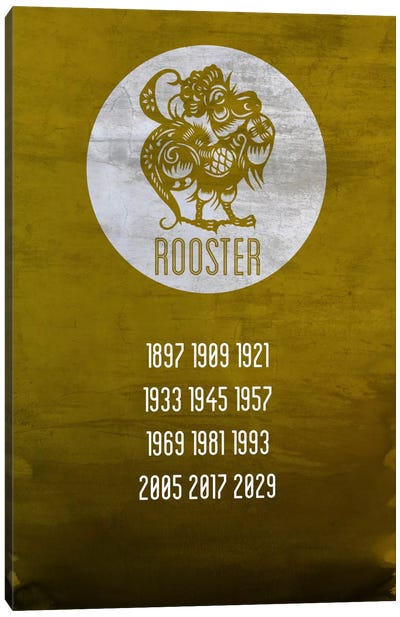 Rooster Zodiac Canvas Print #ICA235