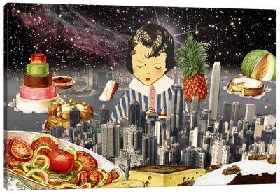 City Under the Stars Canvas Print #ICA237