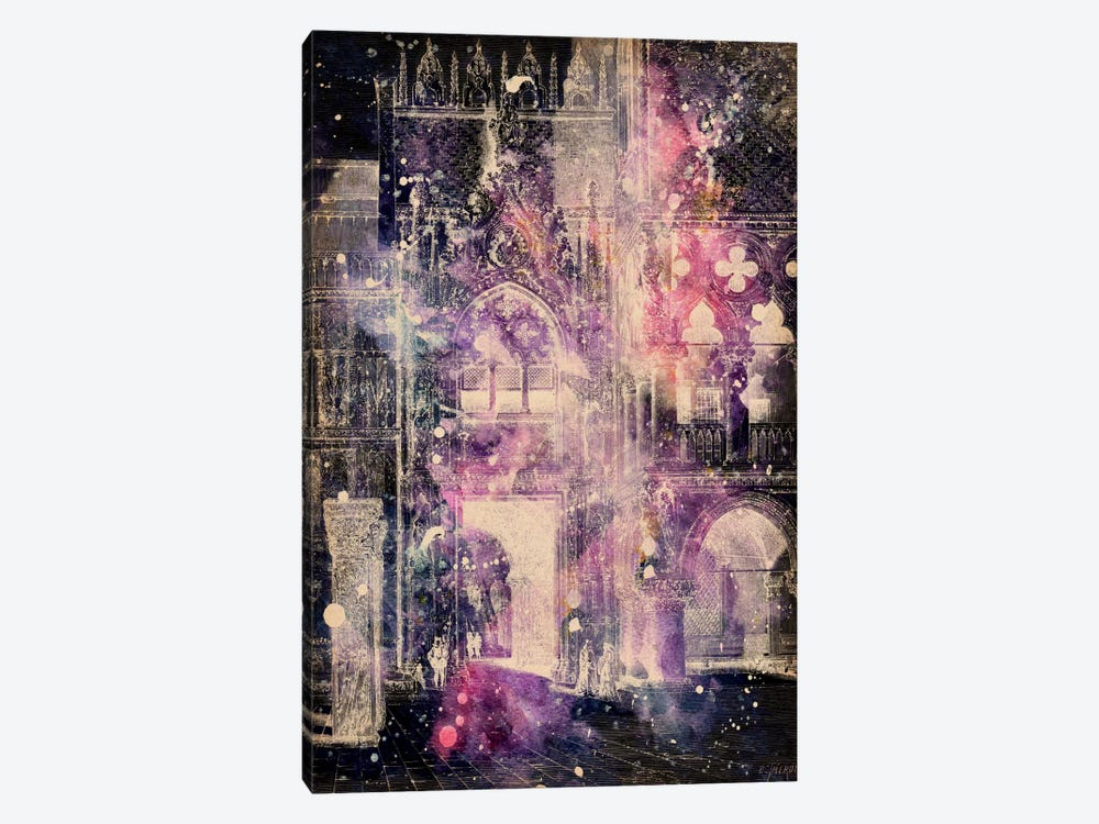 Galaxy Cathedral 1-piece Canvas Art Print