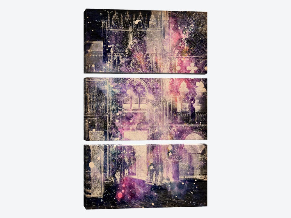 Galaxy Cathedral 3-piece Canvas Art Print