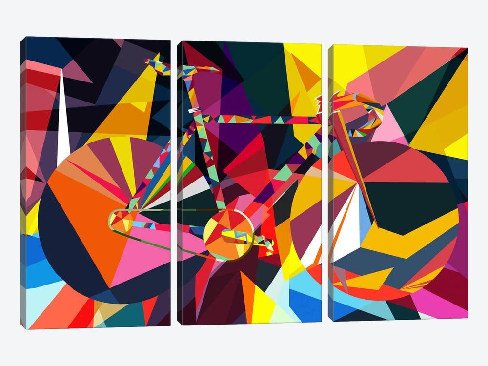 Polygon Fixie by Unknown Artist 3-piece Canvas Art