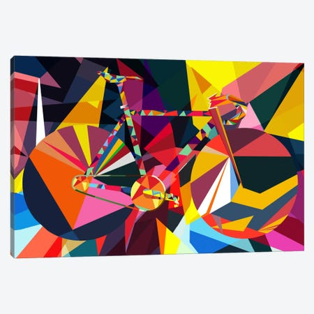 Polygon Fixie Canvas Print #ICA249} by Unknown Artist Canvas Wall Art