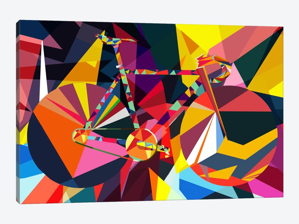 Polygon Fixie by iCanvas 1-piece Canvas Wall Art