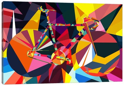Polygon Fixie Canvas Art Print
