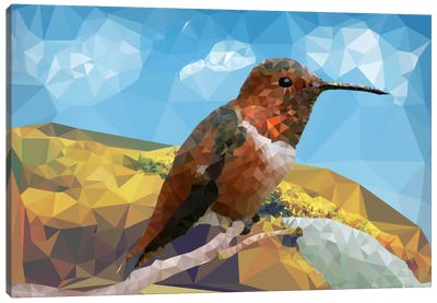 Bird Prizm Canvas Art Print