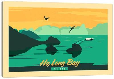 Ha Long Bay, Vietnam Vintage Travel Poster Canvas Art Print