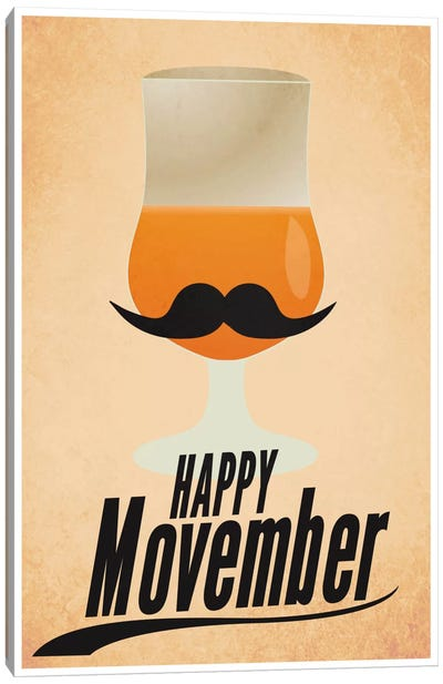 Happy Movember Canvas Art Print