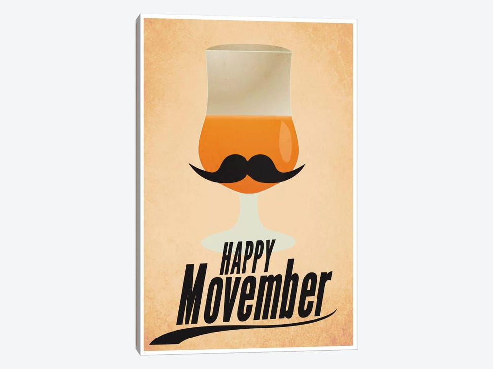 Happy Movember by iCanvas 1-piece Art Print