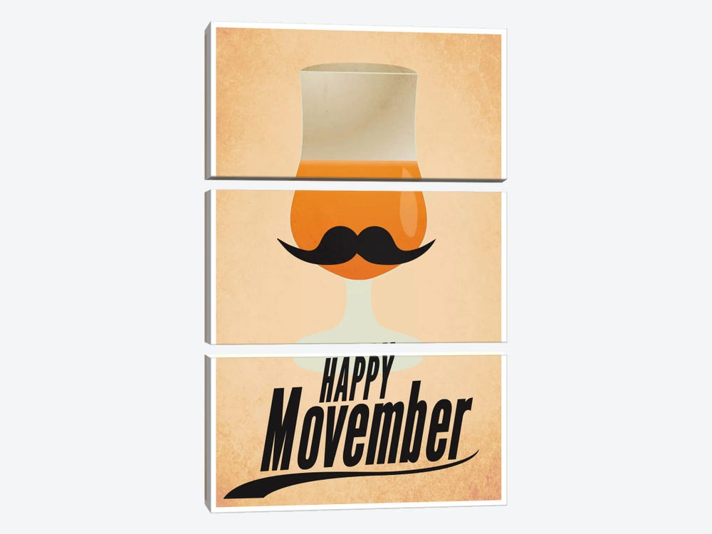 Happy Movember by iCanvas 3-piece Canvas Print