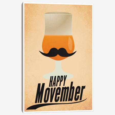 Happy Movember Canvas Print #ICA255} by Unknown Artist Canvas Artwork