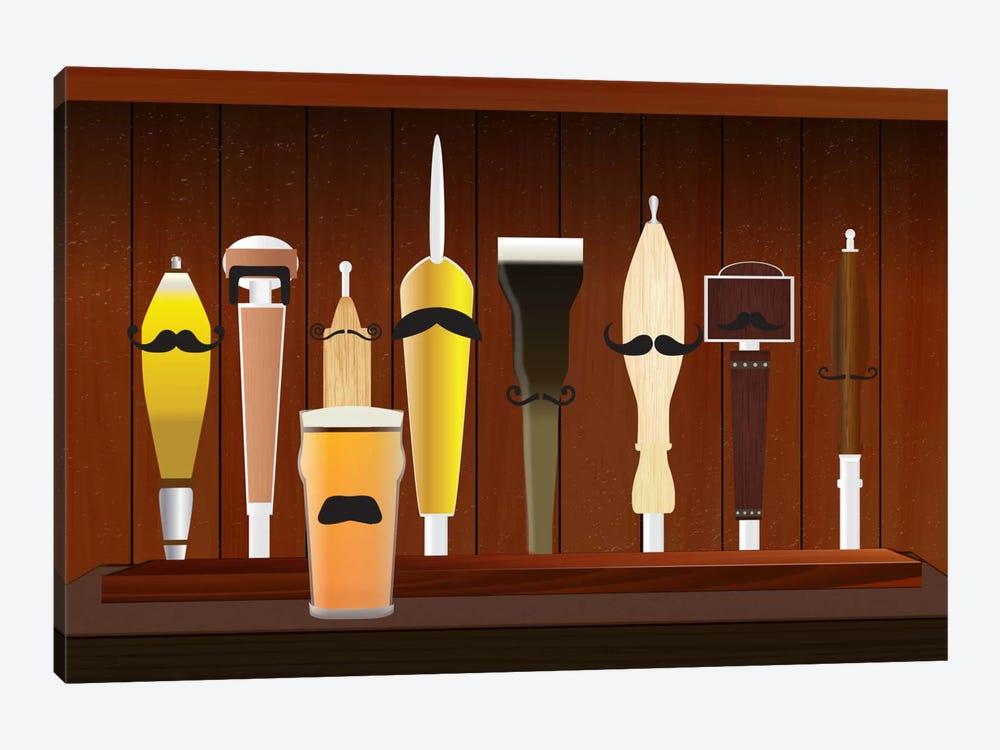 Mustache Draft by Unknown Artist 1-piece Canvas Wall Art