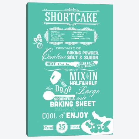 Shortcake Recipe Canvas Print #ICA260} by iCanvas Canvas Artwork