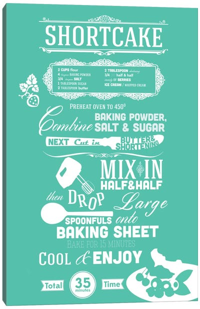Shortcake Recipe Canvas Art Print