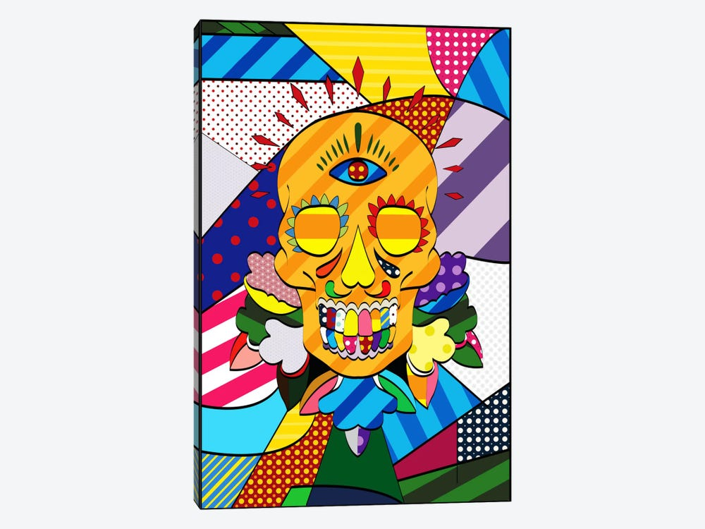 Sugar Skull Comic Art by iCanvas 1-piece Canvas Art