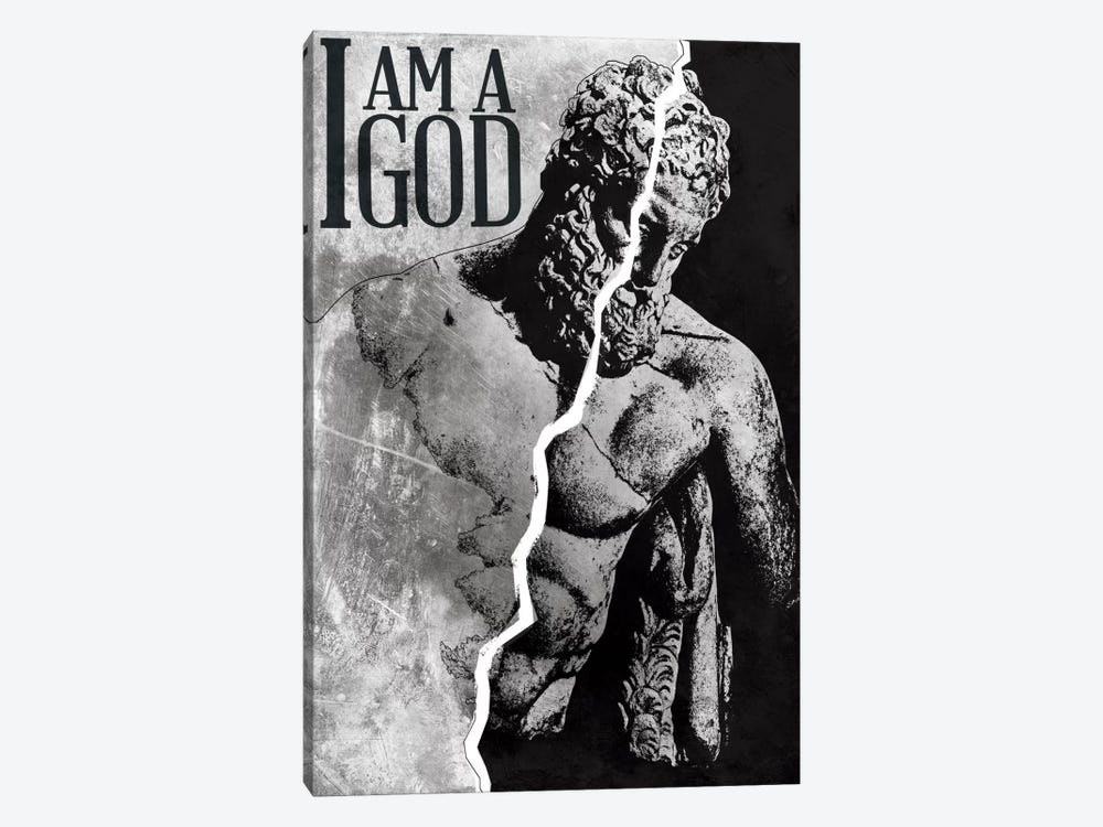 I Am a God by iCanvas 1-piece Canvas Artwork