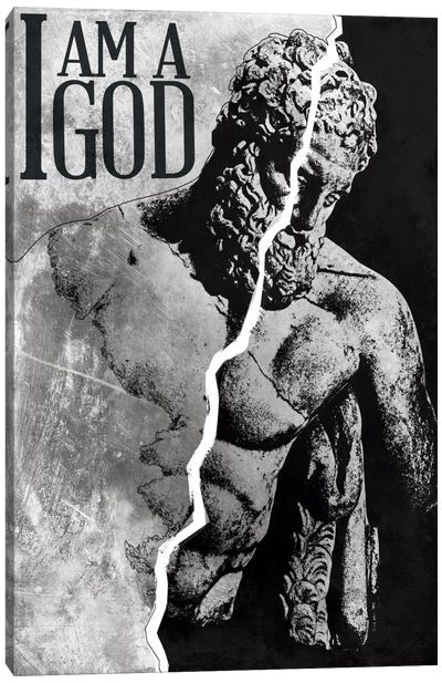 I Am a God Canvas Art Print