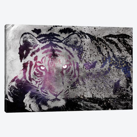 Dusk Tiger Canvas Print #ICA268} by iCanvas Canvas Wall Art