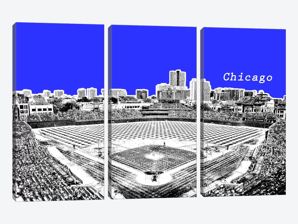 Chicago's Friendly Confines by iCanvas 3-piece Canvas Wall Art