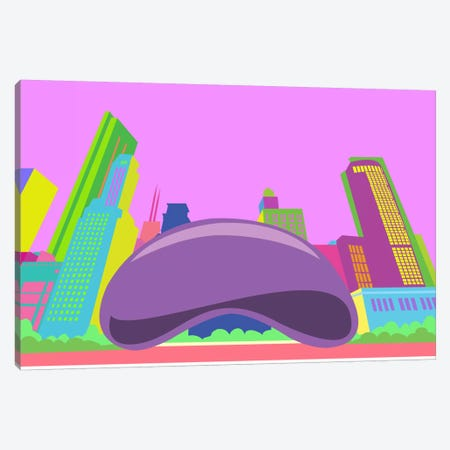The Bean Pop Art (Chicago) Canvas Print #ICA274} by Unknown Artist Canvas Art